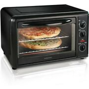 Hamilton Beach Black Countertop Oven With Convection And Rotisserie, Model 31101d