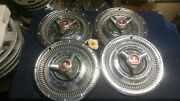 Set Of Four 1965 1966 1967 Plymouth Spinner Hubcaps