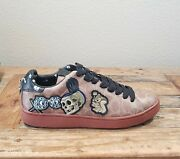 Coach Disney X C101 With Patches Mens 10.5 Snow White Brown Shoe G2653 Rare🔥