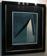 Pearl Eyvind Earle From Winter Barn Suite Hand Signed Limited Print Framed