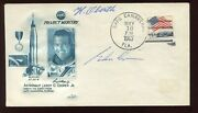 Astronaut Gordon Cooper And Hermann Oberth Dual Signed 1963 Project Mercury Cover