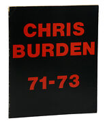 Chris Burden 71-73 First Edition 1974 Performance Art Installations 1st