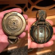 Antique Style British Military Or Army World War Ii Bronze Compass Watch London