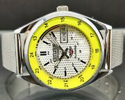 Citizen Automatic Menand039s Steel Day/date Big Face Vintage Japan Watch Good Looking