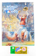 1985 World Series Royals Vs. Cardinals Official Program With Game Ticket
