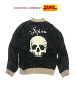 Rude Gallery Japan Skull Embroidered Rayon Jacket Reversible Limited Edition