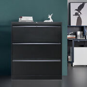 3 Drawers Lateral Storage File Cabinet With Lock Heavy Duty Metal File Cabinets