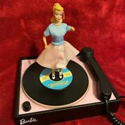 Super Rare Twisting Barbie Musical Animated Phone 1950s Motif Toy Used 722/ak