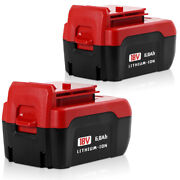 2x 18v 6.0ah Lithium-ion Battery For Porter Cable Pc18b Pc18bl Pc18blx Cordless