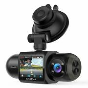 Uber Dual 1080p Fhd Built-in Gps Wi-fi Dash Cam, Front And Inside Car Camera Rec