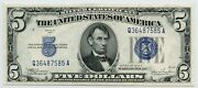 1934c Fr. 1653 5 Consecutive And039s 5 Silver Certificates 1/29/21 Gp