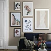 Wall Art Picture Abstract Canvas Painting Flower Butterflies Architecture Poster