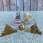 Vintage Cat Lover Collectible Ornaments