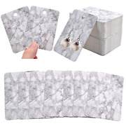 100pcs Earring Display Cards Marble Design Ear Studs Holder Cards For Jewelry