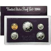1986-s Proof Set United States - Us Mint Original Government Packaging/box