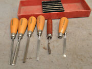 6 Miller Falls And 1 Lee Valley Chip Carving Chisel Decoy Carvers Collectible Tool