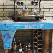 Bar Cart Tractor Vintage Man Cave Gift