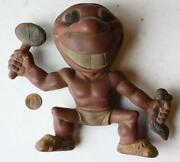 1950s Era Cleveland Indians Mascot Rubber Squeaker Toy-rempel Toys Akron Ohio