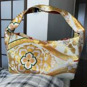 Handmade Japanese Pattern Bag With Pouch Obi Remake With Tracking Number