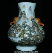 10 Yongzheng Marked Chinese Grisaille Painting Porcelain Elephant Head Pot Vase
