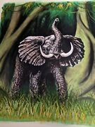 Elephant Original Painting By Rolf Stark 1992 Comic Book Artist Rogue Signed