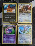 Black And White Pokemon Cards Non-holo Rares Lot Never Player Minty