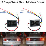 Chase Flash Module Boxes 3 Step Sequential Universal For Car Turn Signal Lig Hb
