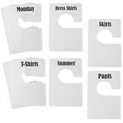 Tragoods 10 Pack White Clothing Rack Size Dividers Plus 60 Labels 1 Inch And 16