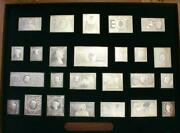 Stamps Of Royalty 482 Grams Of .925 Sterling Silver A Beautiful Complete Set