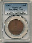1814 North Point And Fort Mchenry Medal Baker 324aa Copper Plain Edge Pcgs Au58