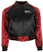 Rolling Stones Juniorand039s Embroidered Baseball Jacket Dragonfly