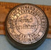 River Rouge Mi Chapter No 174 Ram Masonic Penny Stamping Die Mc Lilley
