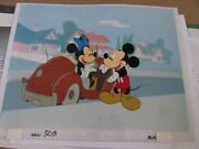 Mickey Mouse And Minnie Production Cel House Of Mouse Very Cute