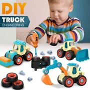 Construction Trucks Screw Toy Set Toys For Kids Boy And Girl Age 3 Year Old And Up