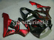 Fit For 00-01 Cbr929rr 2000-2001 Black Red Abs Injection Body Fairing Kit A10