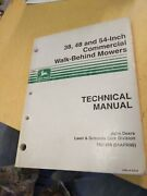 John Deere 38 48 And 54-in Commercial Walk Behind Mowers Technical Manual