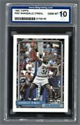 1992 Topps Shaquille O'neal Magic 362 Rookie Isa 10 52758160 Hof 2016