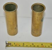 Drain Tube Brass Transom Motor Well Livewell Baitwell 1-1/8 X 3-7/8 Yacht Boat 2