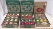 Lot Of 3 Boxes Shiny Bright Christmas Ornaments Vintage Antique