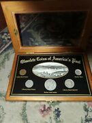 Obsolete Coins Of America's Past Cent Nickel Silver Barber Half Quarter And Dime