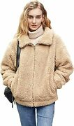 Relish Noless Fashion Women Faux Fur Coat With Stand Collar