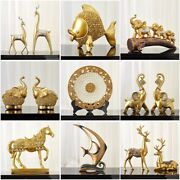 Wealth Luck Animal Figurine Feng Shui Ornaments For Home And New Year Decoration