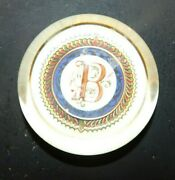 Punch Studio Crystal B Monogram Initial Dome Paperweight Made In France