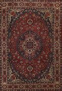 Antique Vegetable Dye Floral Tebriz Large Area Rug Hand-knotted Oriental 10and039x13and039