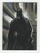 Czx Dc Super Heroes And Villains Sketch Card Batman By Artist Melike Acar