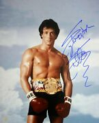 Sylvester Stallone Rocky Balboa Autographed 16x20 Photo Rocky Iii Asi Proof