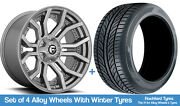 Fuel Winter Alloy Wheels And Snow Tyres 20 For Ford Ranger [mk1] 99-06