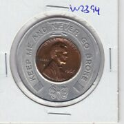 Kappyspenny W2394 1966 My Ad Man Encased Good Luck Lucky Penny