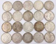 20x Morgan Silver Dollars All Dated 1921 All Circulated 20-coins