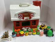 Fisher Price 1995 Vintage 2590 Red Barn Silo Little People Chunky Farm Toy